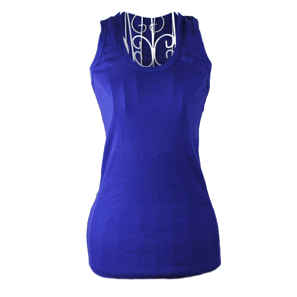 Costbuys  New Ladies Multicolor Sleeveless Bodycon Temperament Cotton Tank Top Women Vest Tops - DBlue / One Size