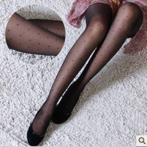 Women Stockings Heart Leopard Dots Lace Fishnet  Stocking Thigh High Long Stockings