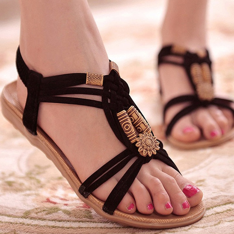 Women Shoes Sandals Comfort Sandals Summer Flip Flops Flat Sandals Gladiator