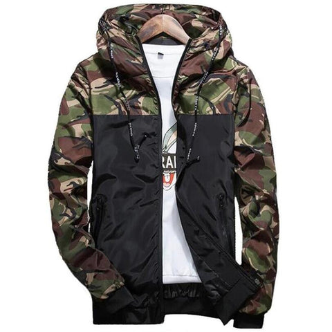 8da5b72a7e96 Camouflage Jackets Men s Coats Spring Summer Casual Camo Male Jackets Army  Military Men Outerwear Slim