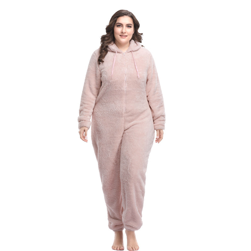 3537c96d94c Winter Warm Pyjamas Women Plus Size Sleepwear Female Kingurumi Fleece Teddy Pajamas  Sleep Lounge Pajamas Sets ...