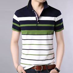 Men clothes Polo men Striped Classical causal polos dress