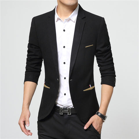 New Arrival Brand Clothing Autumn Suit Blazer Men Fashion Slim Male Suits Casual Solid Color Masculine Blazer