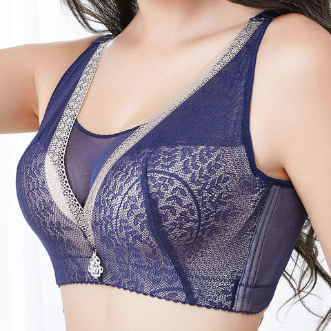 New Tops For  Women Bra 3 Colors Fashion Sexy Lace Bralette Wire Free Padded Bra  Intimates With  32-40A/B
