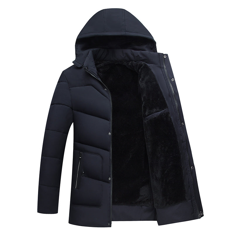 Men Jacket Coats Thick Warm Winter Jackets Casual Men Parka Hooded Outwear Cotton-padded Jacket