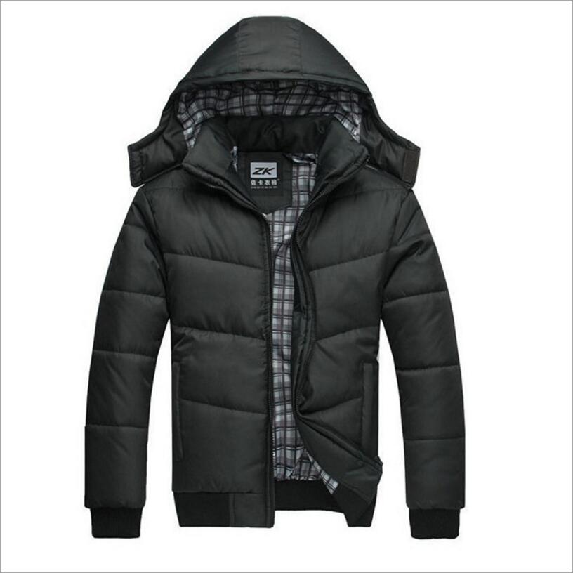 Jacket Men Winter Jacket Big Size  Casual Slim Cotton With Hooded Parkas