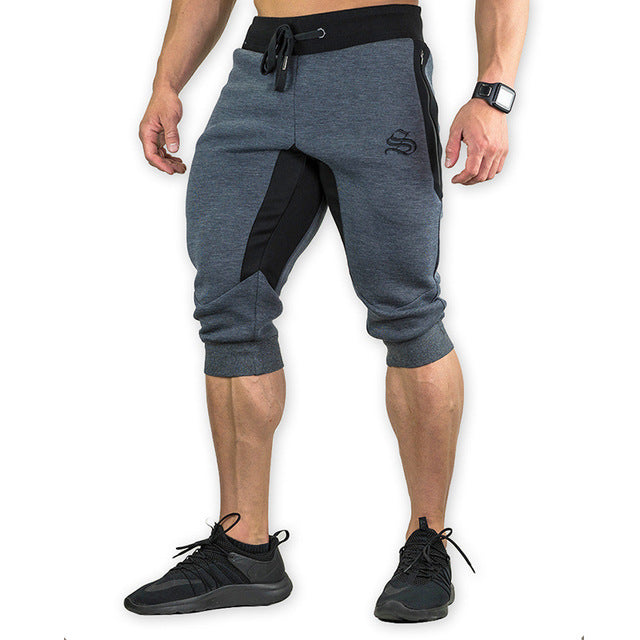 Costbuys  Summer Mens Jogger Sporting Shorts Men Black Bodybuilding Short Pants Male Fitness Gyms Shorts for workout - 1 2 / M