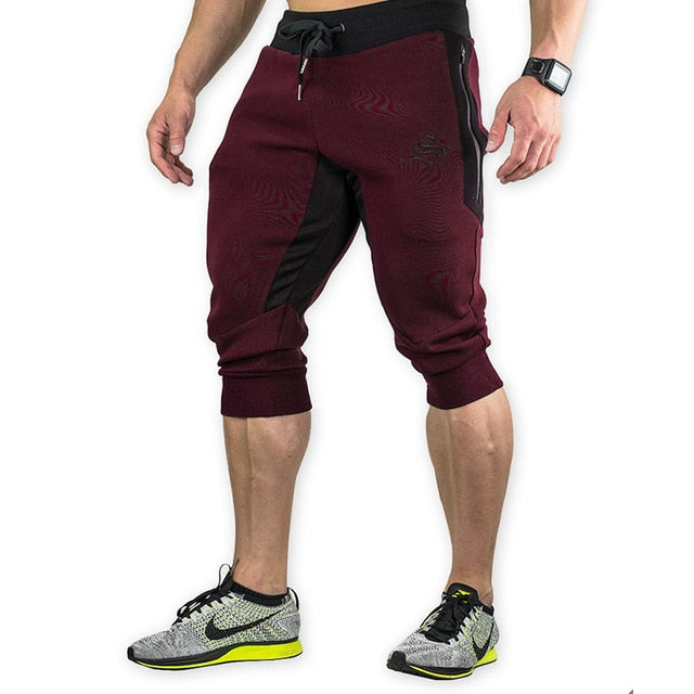Costbuys  Summer Mens Jogger Sporting Shorts Men Black Bodybuilding Short Pants Male Fitness Gyms Shorts for workout - 1 3 / XXL