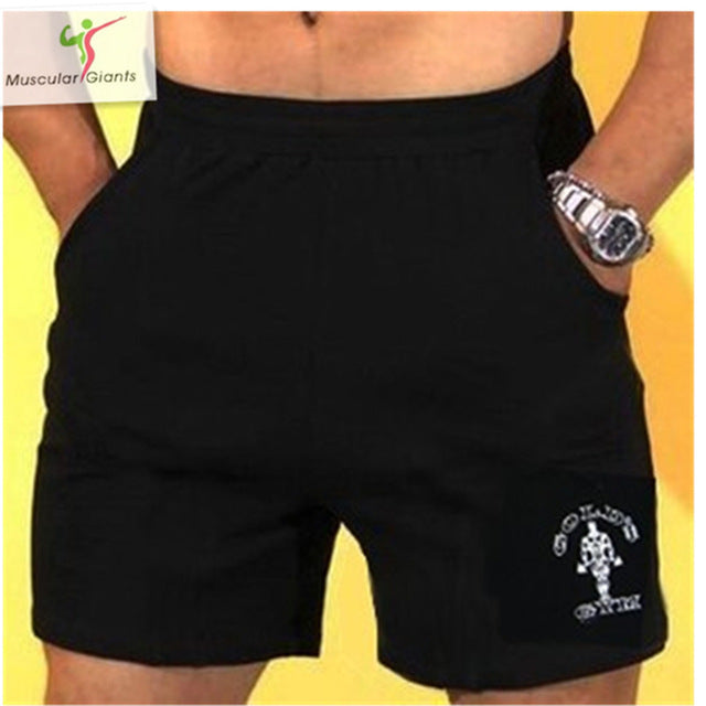 Costbuys  Summer Mens Jogger Sporting Shorts Men Black Bodybuilding Short Pants Male Fitness Gyms Shorts for workout - 1 4 / M