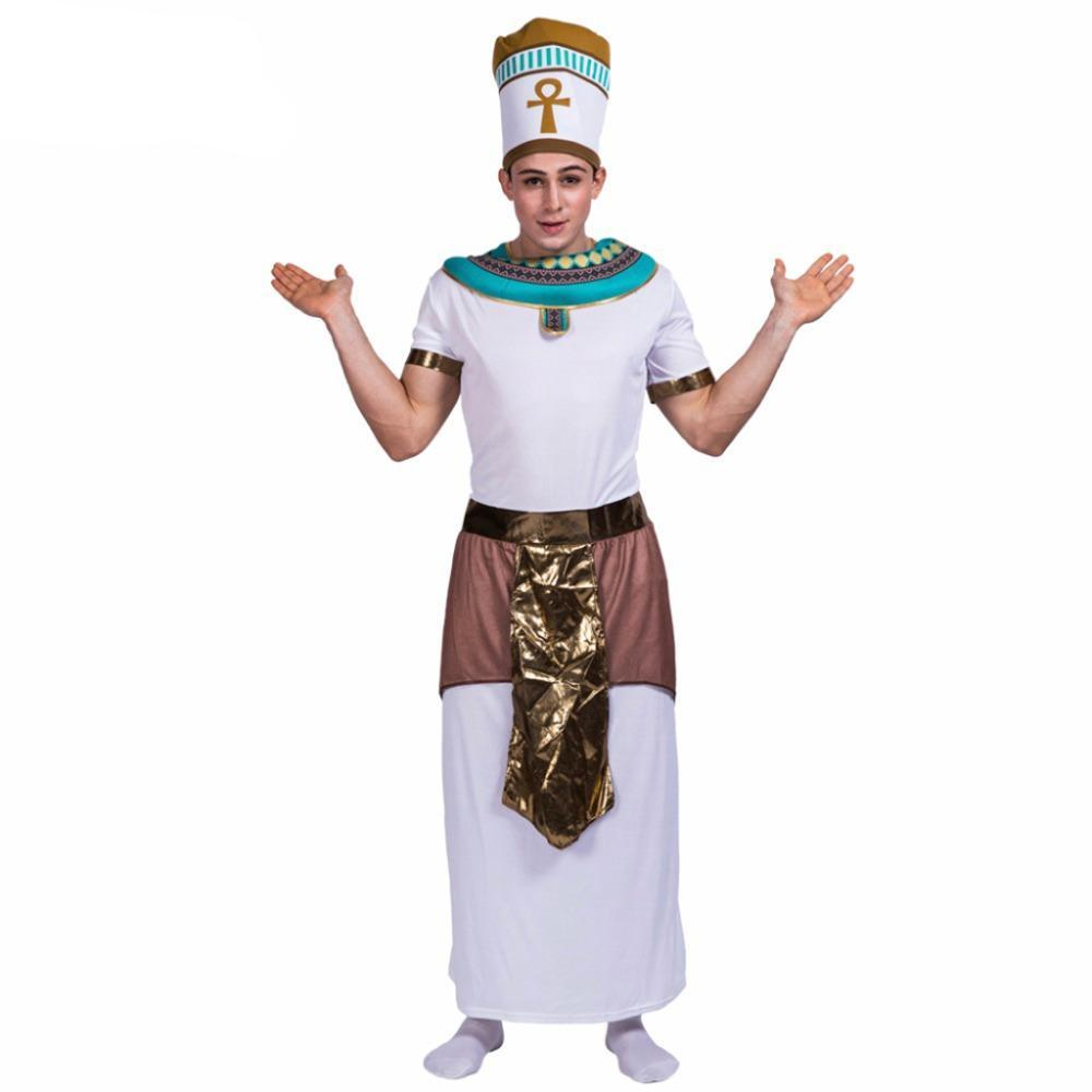 king of egypt pharaoh cosplay men halloween costume christmas party clothes clothing adult male costumes