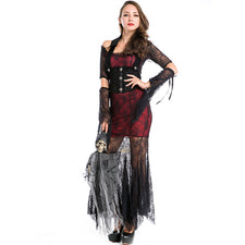 party halloween costumes adult women sexy lace retro noble spider web vampire costume cosplay long fancy