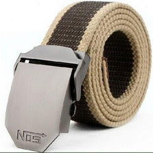 2015 New Arrival Real Striped Adult Fashion Men Free Leather Belt Ultra Long 140 Canvas Belt Man Automatic Buckle Strap Knitted