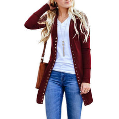 Autumn Women Casual Long Sleeve Knitted Cardigans Autumn Ladies Sweaters Women Cardigan