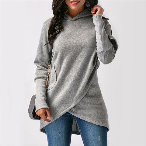 Autumn Hoodie Women Sweatshirt Long Sleeve Pocket Loose Shirt Top Tracskuit Women Hoodies Sweatshirts