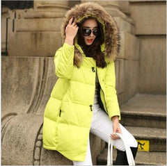 Coat Jacket Hooded Winter Jacket for Women parkas women's jacket fur collar Outerwear Female plus Size