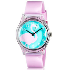 Mini Kid's Student's Fashionable Swan Pattern Analog Wrist Watch