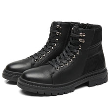 Men Boots Men Casual Autumn Winter Shoes Men's Ankle Boots Zip Wear Comfort Work Footwear