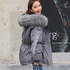 Women Winter Short Jacket Hooded Parkas Winter Coat Women Loose Parka Fur Collar Cotton Padded Jackets
