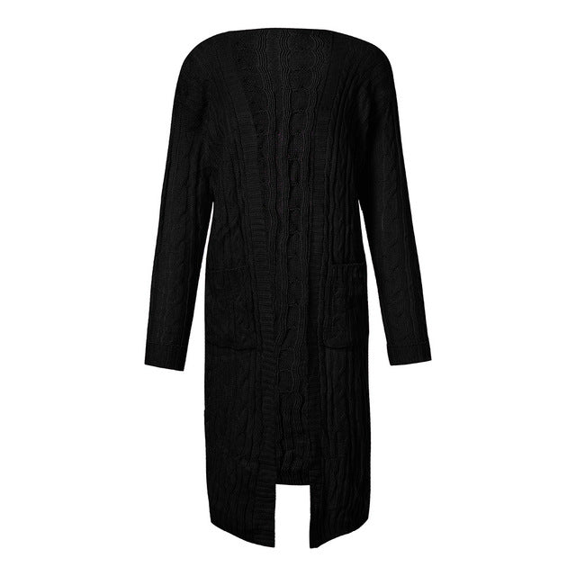 Costbuys  Women Ladies Winter long Sleeve Casual Loose Knitted Sweater Jumper Coat Cardigan pull femme - Black / United States