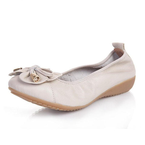 New Fashion Women's Flat Shoes Woman Genuine Leather Soft Outsole Comfortable Casual Shoes Women Flats