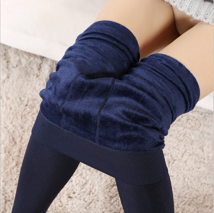 S-XL New Fashion Women's Autumn Winter High Elasticity And Good Quality Leggings Thick Velvet Pants Activity