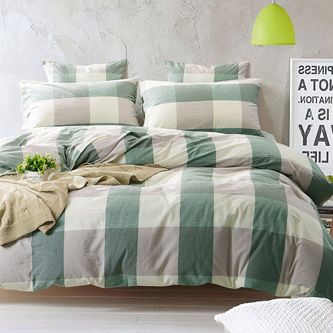 100% Yarn dyed Cotton Jersey Duvet Cover Japanese Style Stripe Design 1PC