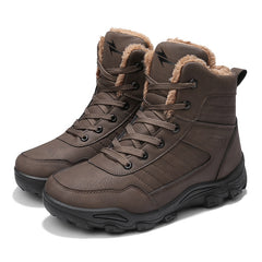 Men Winter Snow Boots Outdoor Keep Warm Boots Men Waterproof Working Shoes Man Safety Ankle Boots Men Big Size