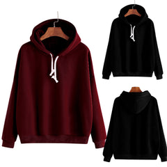 Female sweatshirt Women Ladies Solid Long Sleeve Casual Hooded Sweatshirt Pullover hoodies