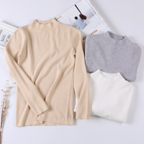 Women Basic Sweater Spring Autumn Thin Knitwear O Neck Chic Pullover  Sweaters Soft Ladies Jumper Pull 64ee0662e839