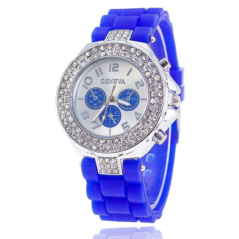 13b184ebff5 Fashion Jelly Silicone Geneva Watch Women Rhinestone Watches Casual Women  Wristwatch Quartz Watch Relogio Feminino
