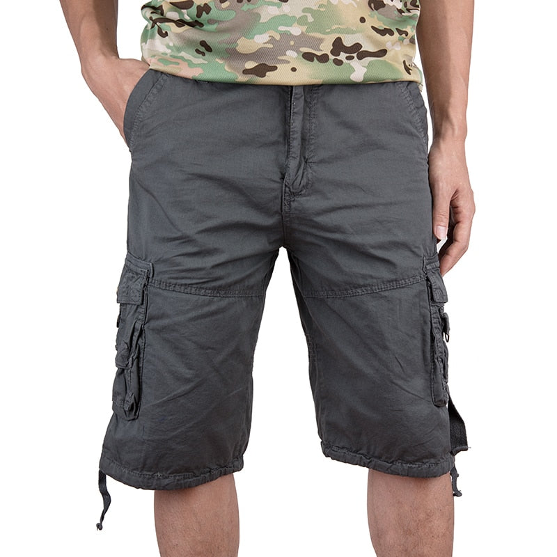 2676493ef1 Men Shorts Pockets Summer New Style Pure Cotton Half Work Short Casual Men's  Multi-pocket