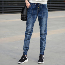Boyfriend Jeans Women Harem Pants Trouser Casual Loose Denim Jeans Streetwear Ladies Vintage Washed Jeans