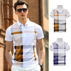 Summer Business Casual Breathable Homme Camisa Polo Shirt Men Clothing Short Sleeve Cotton