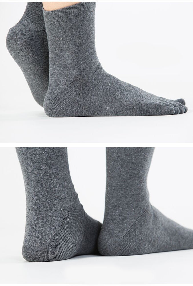 Hot Sale 1 Pairs / Lot Fashion New Spring Winter Meias Men Women's Socks Cotton Polyester Breathable 5 Toes Sock Multi Colors
