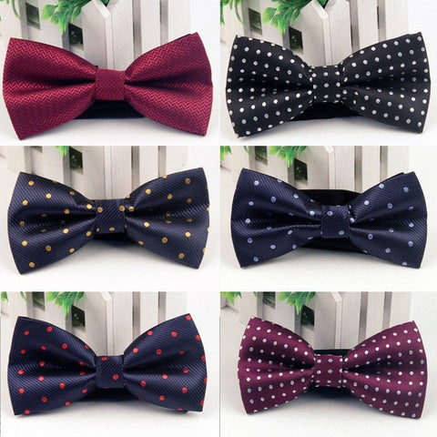 New Arrival Men's Bowknot Bow Tie Brand Accessories Popular Mens Business Neckties Bowties Classic Polyester Male Bow Tie Cravat