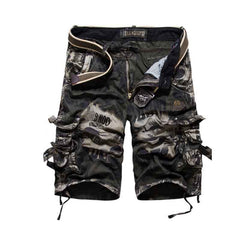 Men's camouflage overalls  Camouflage Camo Cargo Shorts Men Casual Male Loose Work Shorts Cotton Casual Short Pants