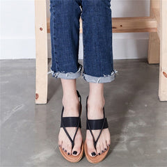 Summer Women Flip Flops Female Low Heels Beach Flat Sandals Rome Style Cross Tied Sandals Shoes