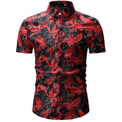 Shirts Men Summer Style Print Beach Hawaiian Shirt Men Casual Short Sleeve Hawaii Shirt Chemise Homme