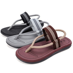 Men's Fashion Beach Sandals Casual Summer Flip Flops Flat Heel Leather Shoes Outdoor Skid Shoes Male slides Fashion Loafers
