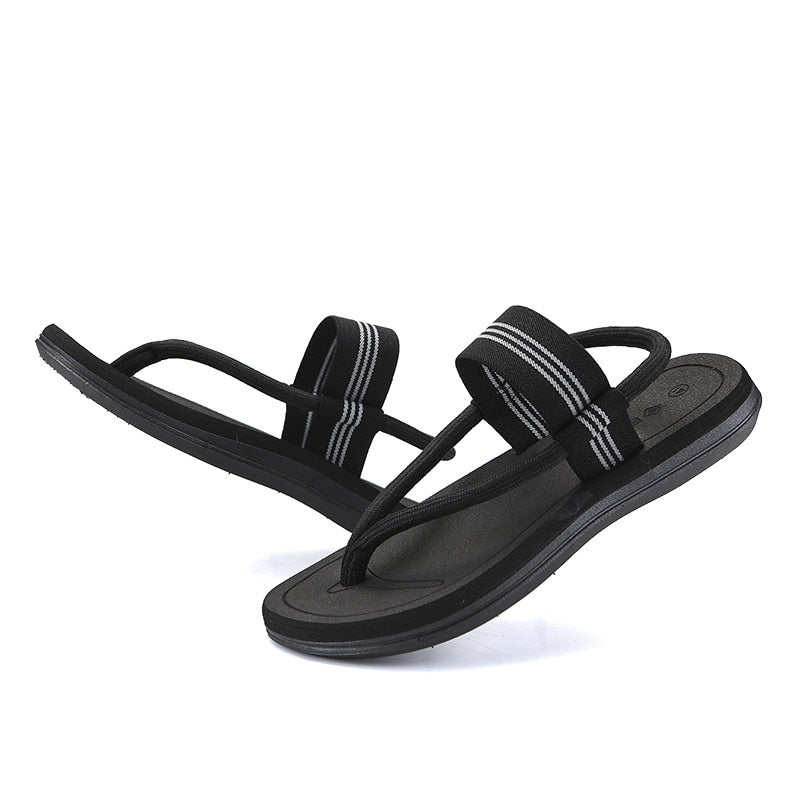 Summer Sandals Men Elastic Rope Roma Style Beach Sandals Fashion Male Flip Flops Outdoor Sandalias For Men