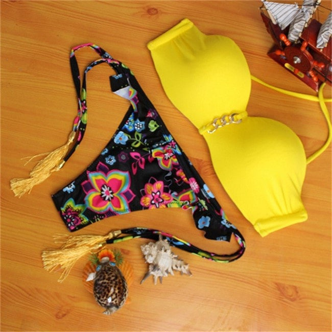 New arrival Sexy Strapless Bikini Sets Push Up Swimsuit Bathing Suit Brazilian Women Swimwear Bikini Maillot De Bain