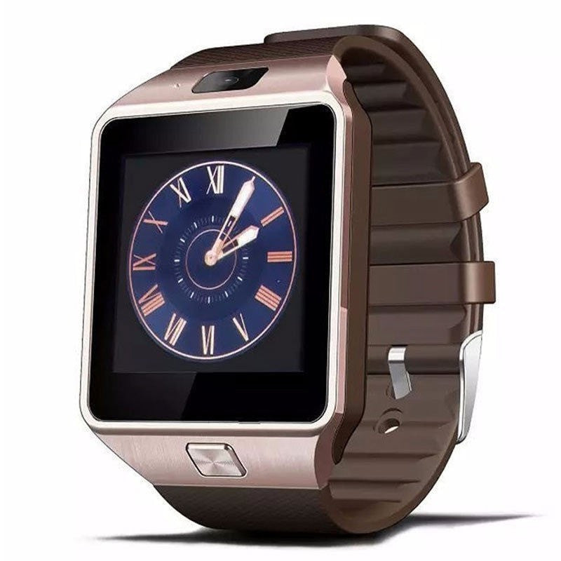 Costbuys  New Smart Watch With Camera Bluetooth WristWatch SIM Card Smartwatch For Phones Support Multi languages - Gold