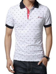 POLO Shirt Men Embroidery Short Sleeve Male POLO Shirts Turn-down Collar Casual POLO Men