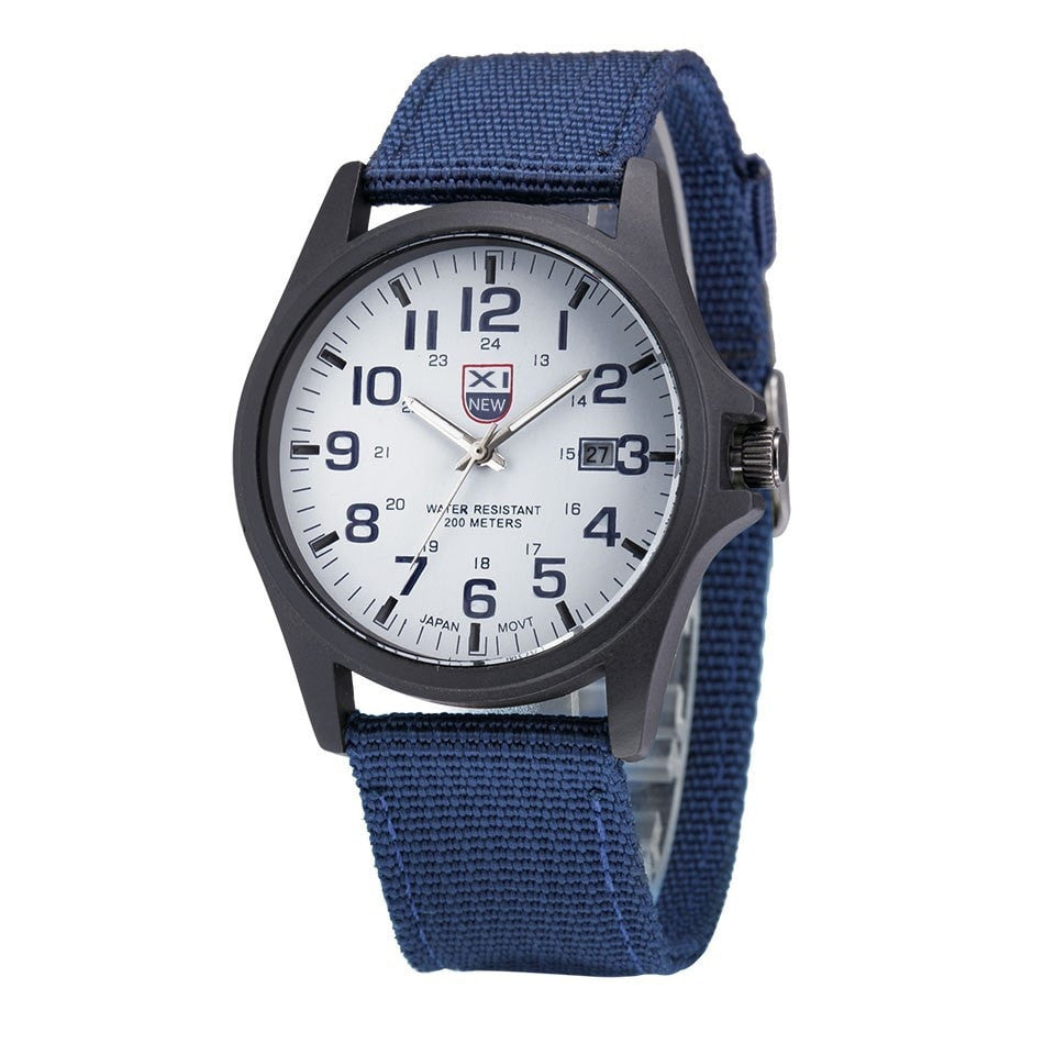 Fabulous mens army watches Date Stainless Steel Military Sports Analog Quartz Men watch erkek kol saat relogioi