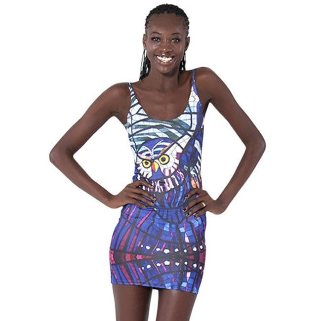 Black Milk Digital Printed Skull Skeleton Women One-piece Dress Punk Skull Sun Dress