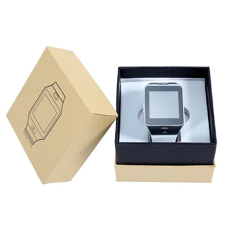 Costbuys  New Smart Watch With Camera Bluetooth WristWatch SIM Card Smartwatch For Phones Support Multi languages - White with B