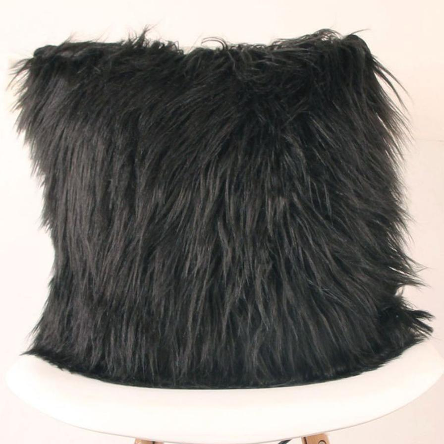 Costbuys  Sofa decorative cushions Plush Furry Cushion  Throw Pillow   Home Bed Room Sofa Decor - B