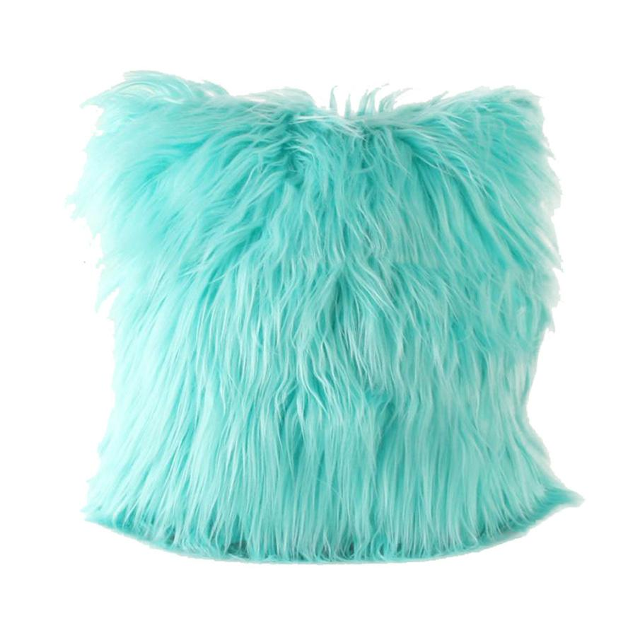 Costbuys  Sofa decorative cushions Plush Furry Cushion  Throw Pillow   Home Bed Room Sofa Decor - E