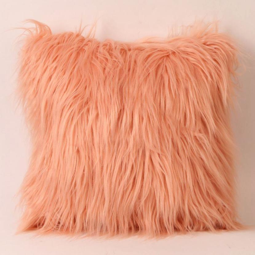 Costbuys  Sofa decorative cushions Plush Furry Cushion  Throw Pillow   Home Bed Room Sofa Decor - G