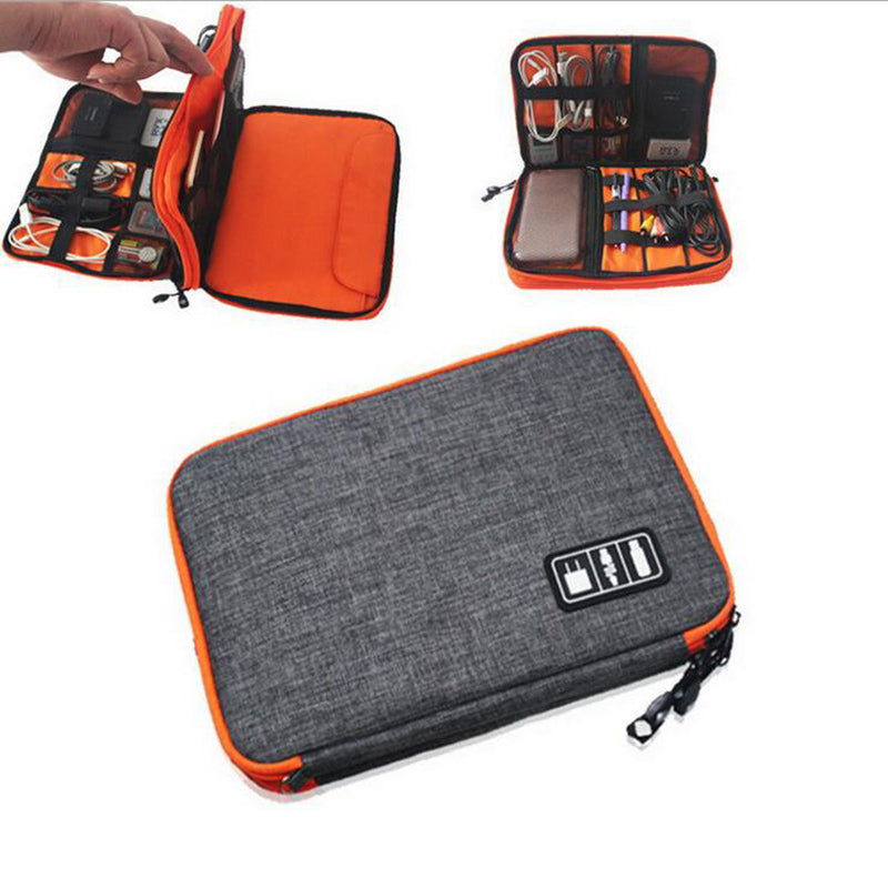 Waterproof Ipad Organizer USB Data Cable Earphone Wire Pen Power Bank Travel  Storage Box Kit Case Digital Gadget Devices